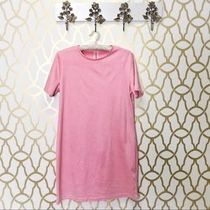 Zara Pink Faux Suede Soft Dress